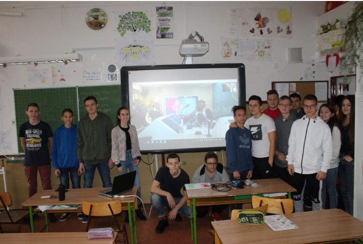 Sebestyén Balázzsal, Rákóczi Ferenccel, Vadon Jánossal Skype - os beszélgetés pályaorientáció, célok témakörben a Vendéges programom keretén belül